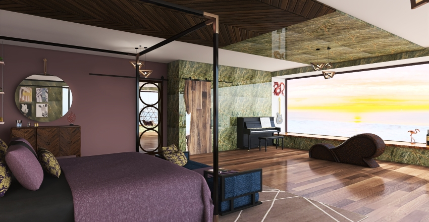 #HSDA2020Residentia Exotic Draqon Master Bedroom Project Interior Design Render