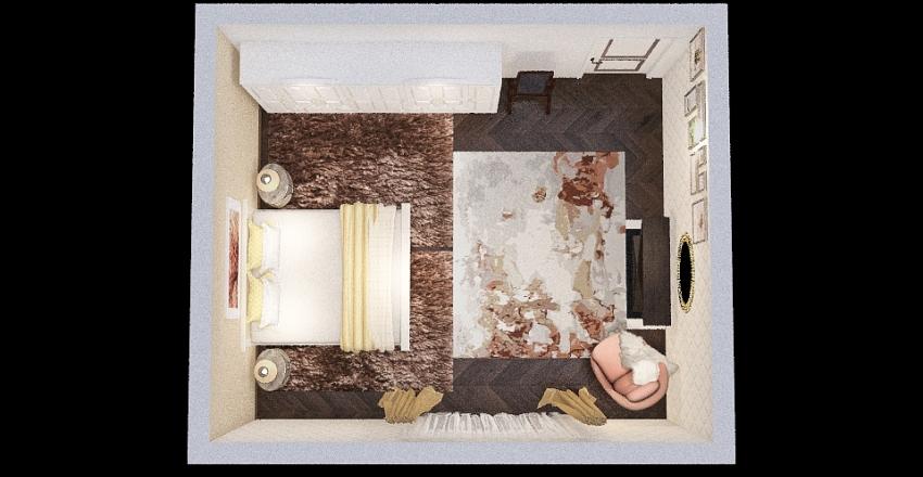 Bedroom Young Artist Lady Interior Design Render