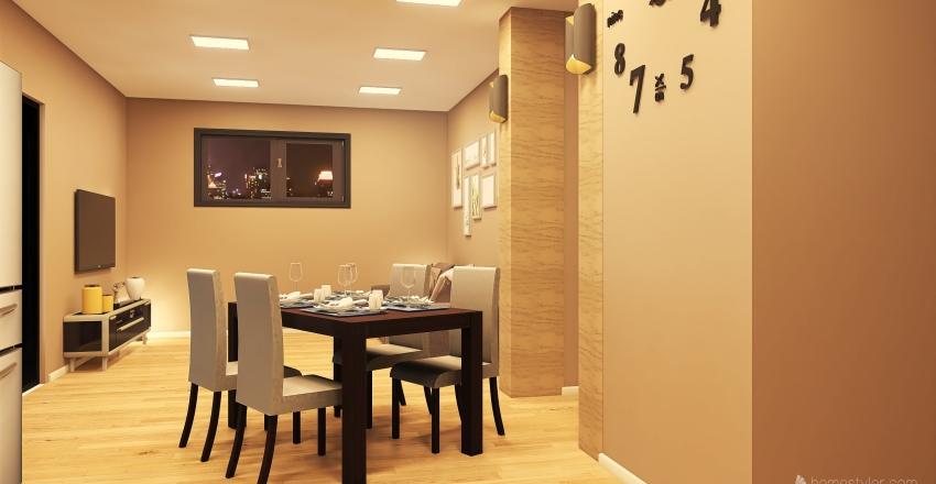 Mansarda Interior Design Render