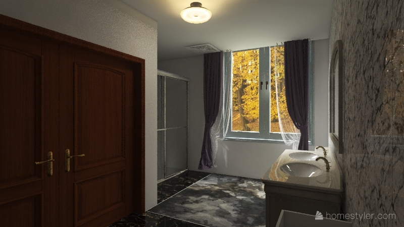 Dream Bathroom Interior Design Render