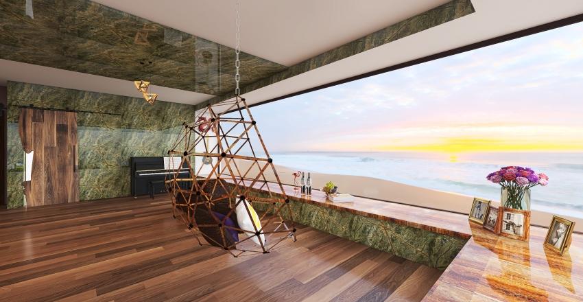 Exotic Seaside House Project Interior Design Render