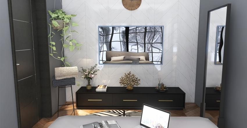 Winter bedroom Interior Design Render