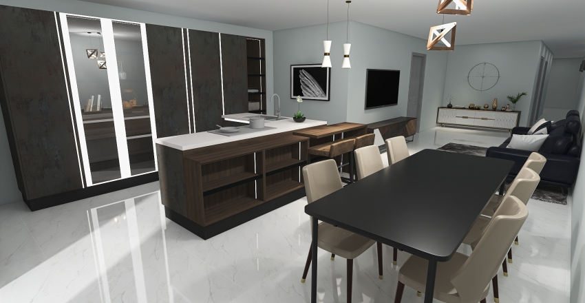 St.Julians 2 bedroom Apartment Interior Design Render