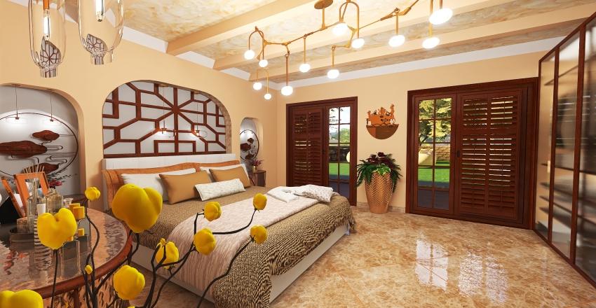 villetta a mattoncino Interior Design Render