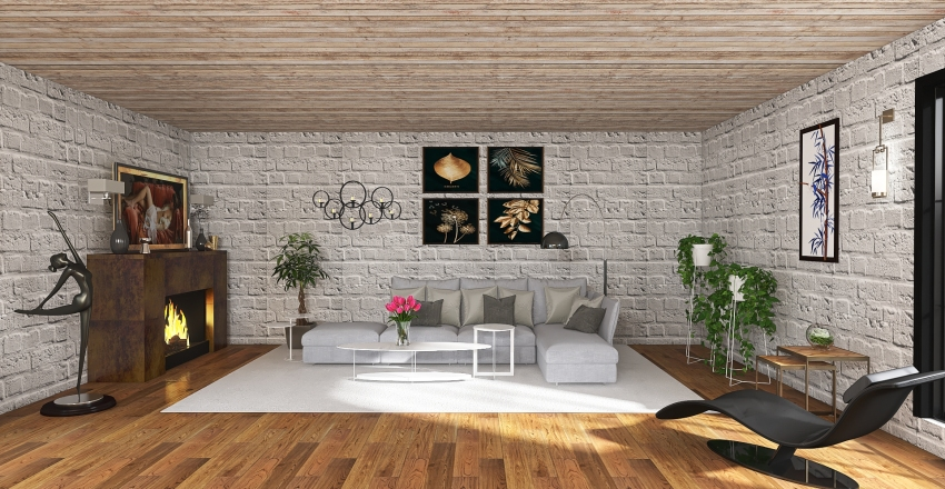 open plan Interior Design Render