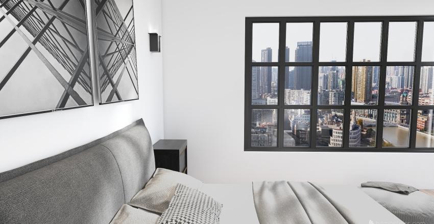 Sophisticated, Dark Luxury Suite Interior Design Render