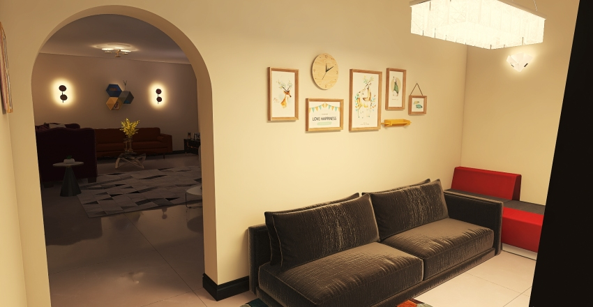 living room Interior Design Render