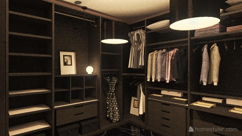 Modern bedroom Interior Design Render