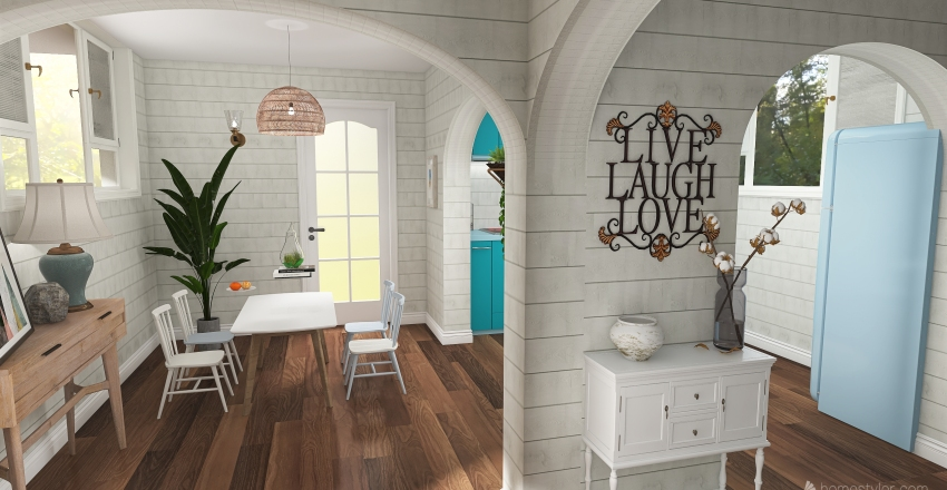 Provencal style Interior Design Render