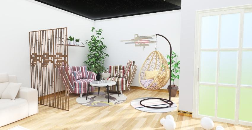 living 2room Interior Design Render