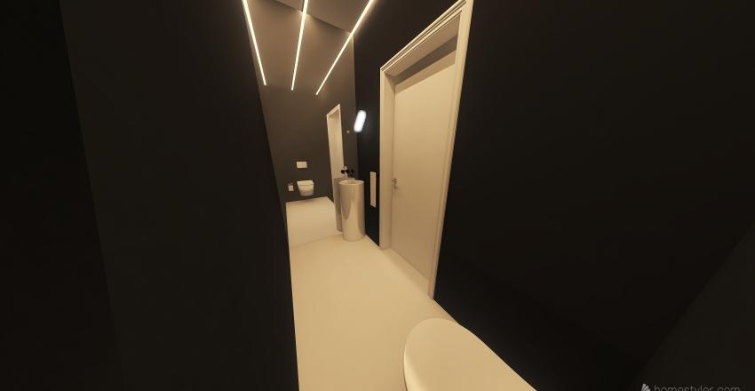 mała łazienka Interior Design Render