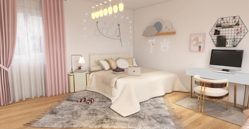 Aesthetic room Interior Design Render
