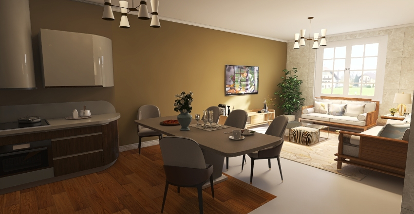 #HSDA2020Residential Modern and Cozy Small Home Interior Design Render