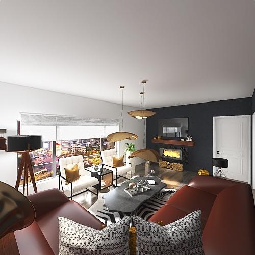 living room II Interior Design Render