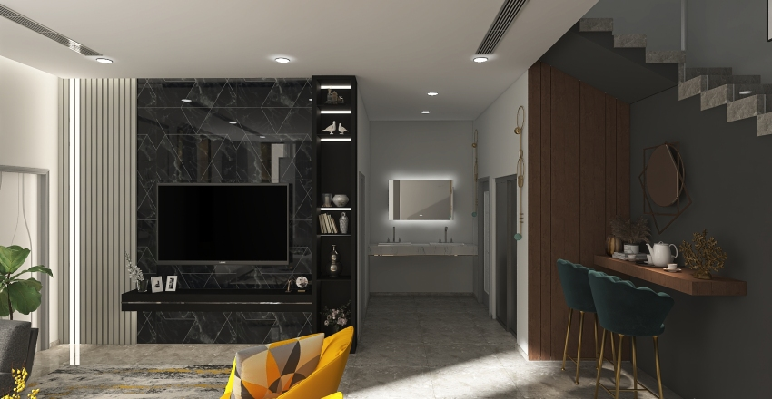VILLA MR-ADEL-WOMEN'S MAJLIS Interior Design Render