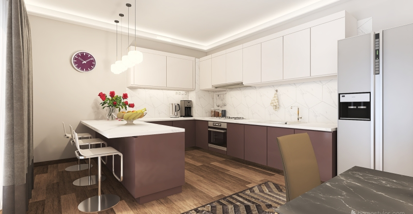 moderncottage. Interior Design Render