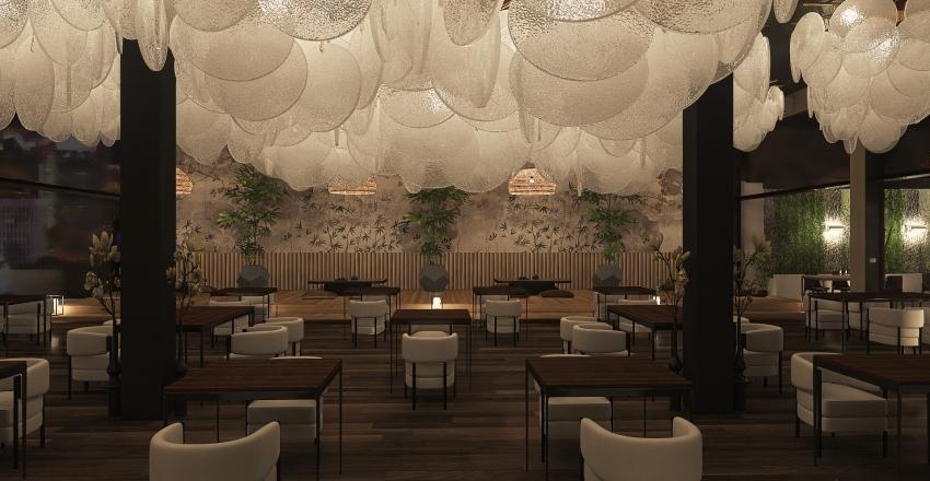 resto oriental Interior Design Render