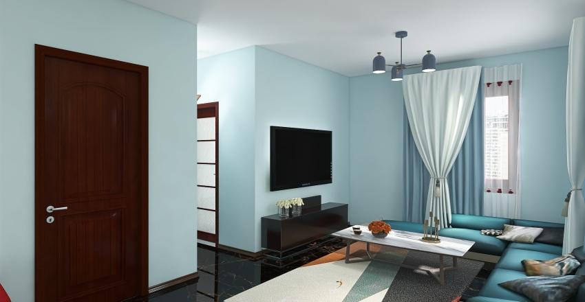 living room&bathroom Interior Design Render