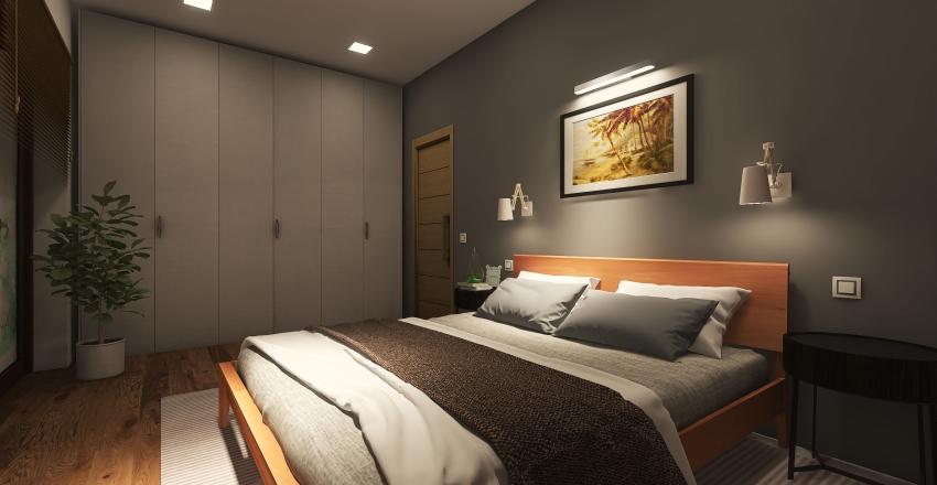 Дизайн загородного дома 100 кв.м Interior Design Render