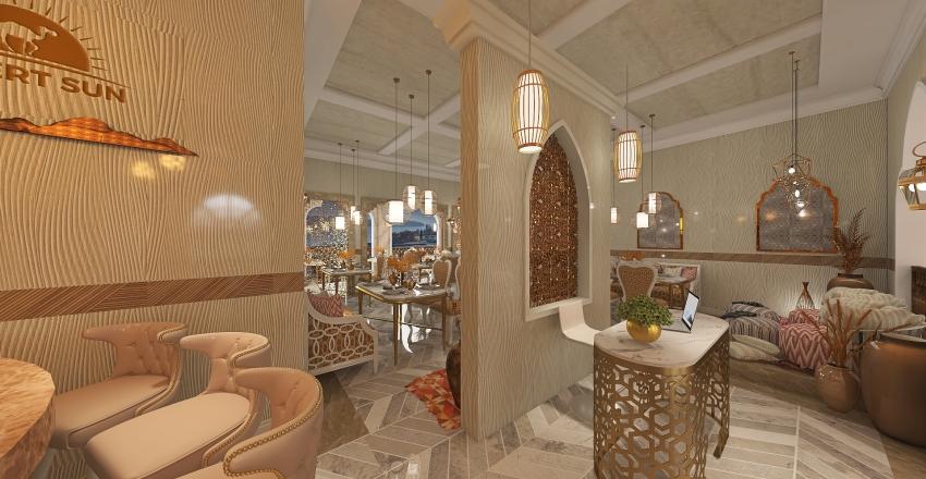 #HSDA2020Commercial  Arabic Theme Fine Dining Restaurant Interior Design Render