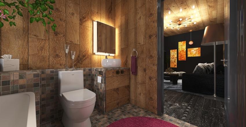 compact home Interior Design Render