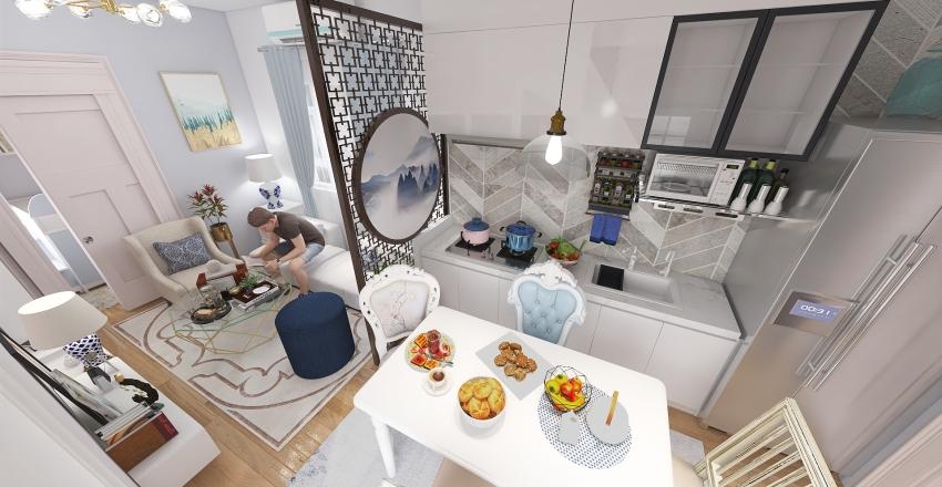 Tiny House Pastel Chic Interior Design Interior Design Render