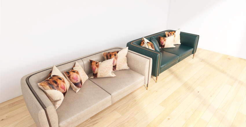 Couches with my hamsters face on them Interior Design Render