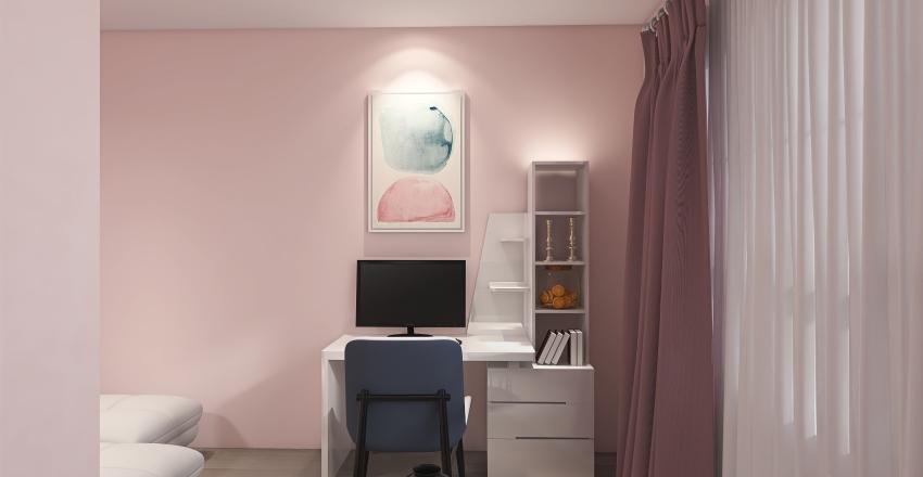 Pink Kids Bedroom Interior Design Render