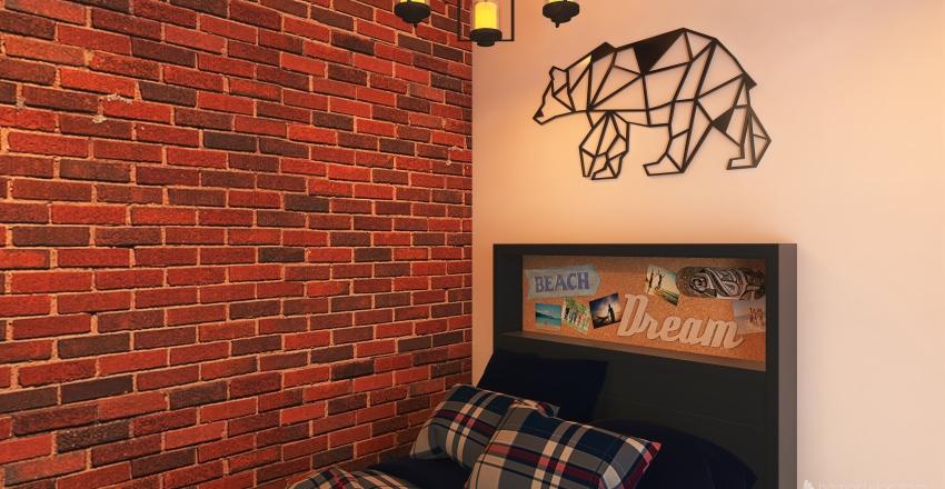 Habitación de 2 hermanos Interior Design Render