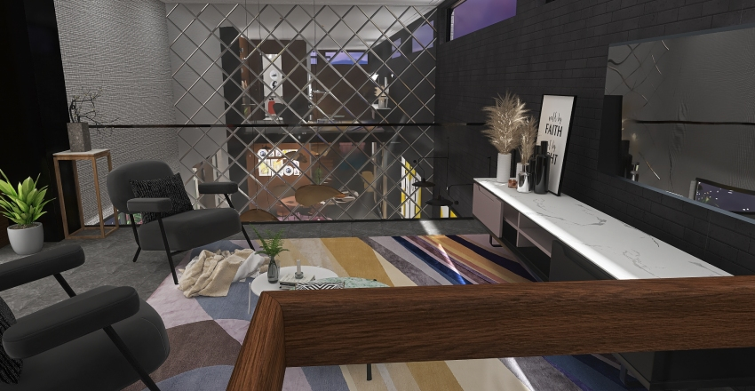 Loft apartment in the City Interior Design Render