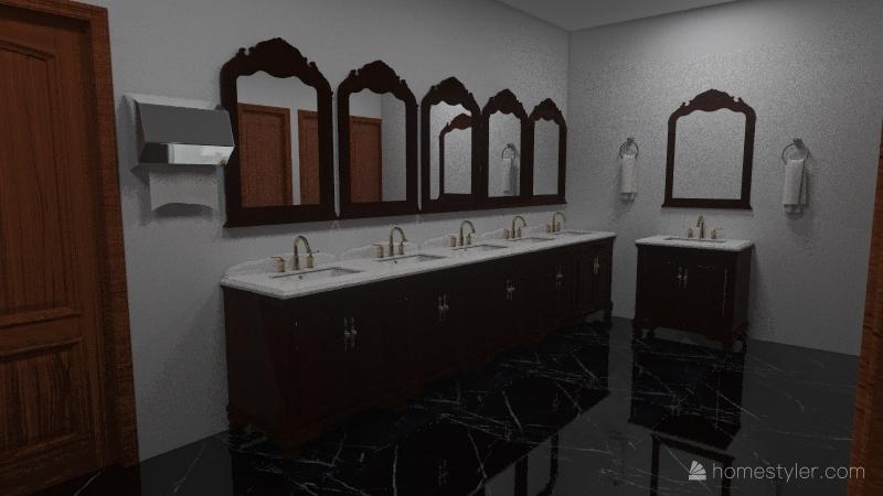 O& A Restaurant Project Interior Design Render