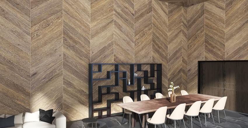 Cozy modern home in Switzerland Interior Design Render
