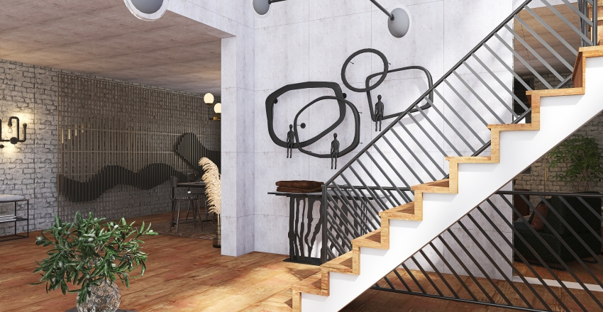 Downtown Loft Interior Design Render