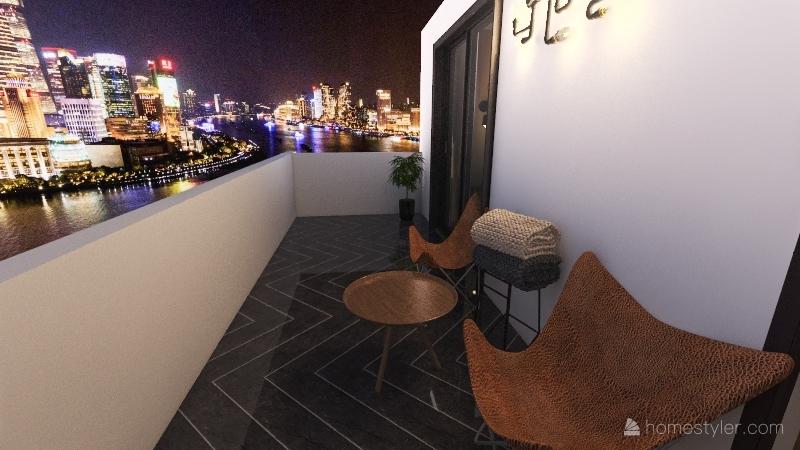 metropolis 1 bedroom flat Interior Design Render