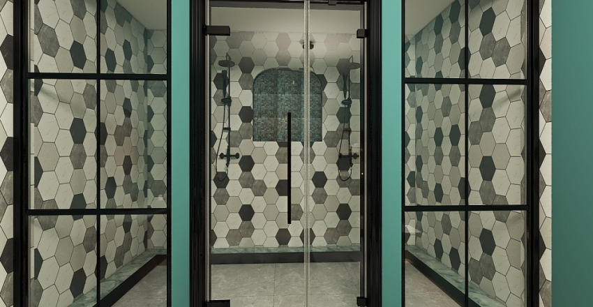 Industrial Chic loft Interior Design Render