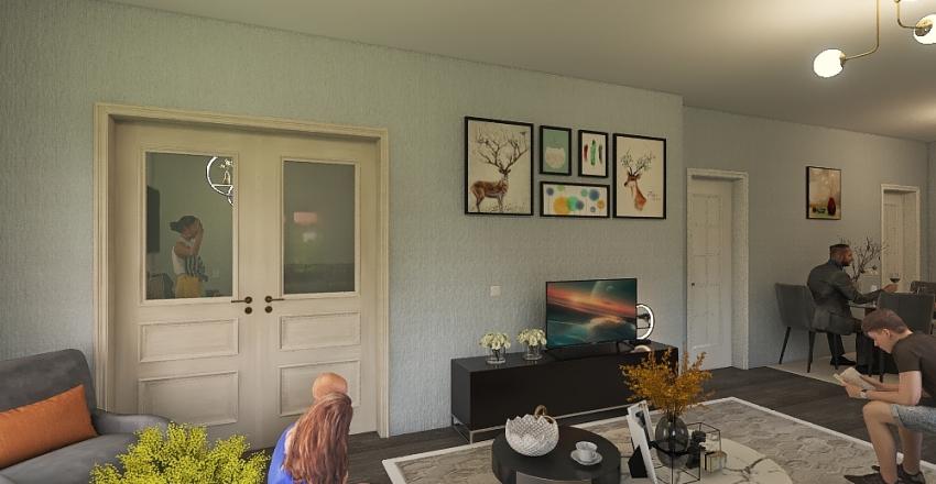 Smart House Interior Design Render