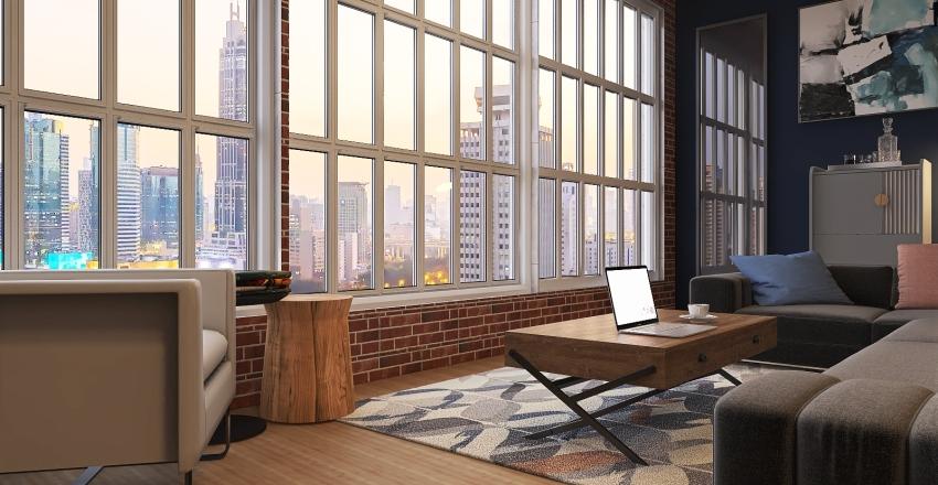 Bachelors pad Interior Design Render