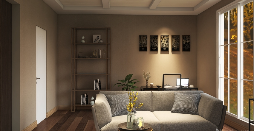 Modern house Interior Design Render