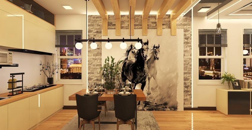 Black Stallion (40 Sqm Condo/Apartment) Interior Design Render
