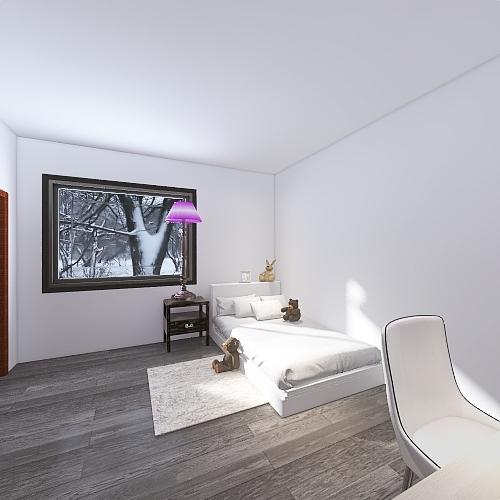 One Story house Interior Design Render