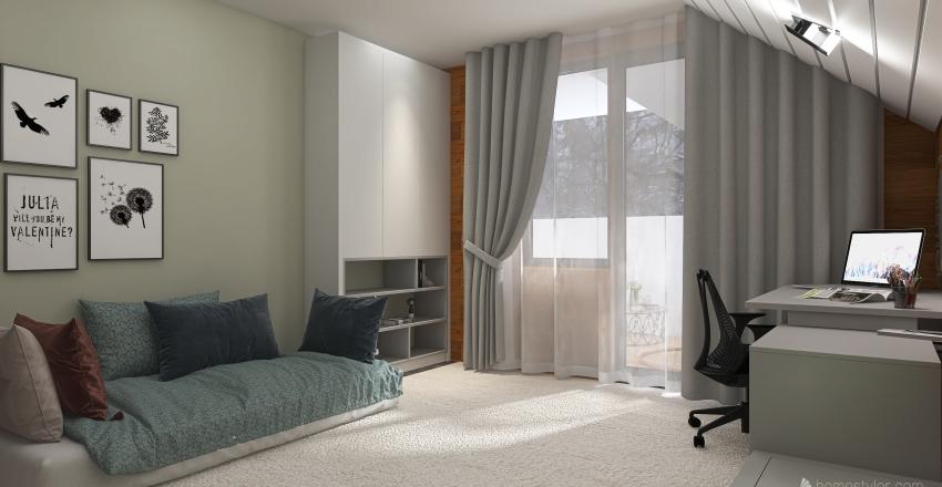 вариант 4 комната подростка Interior Design Render