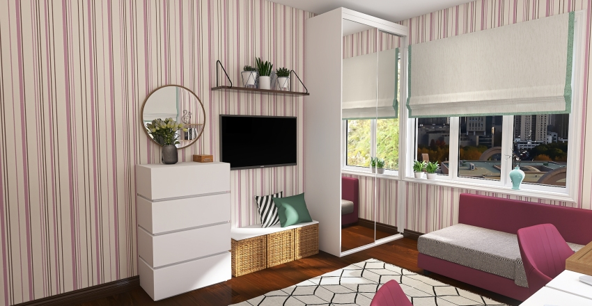 Medvedeva flat Interior Design Render