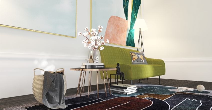 Sunday Mood Board Interior Design Render
