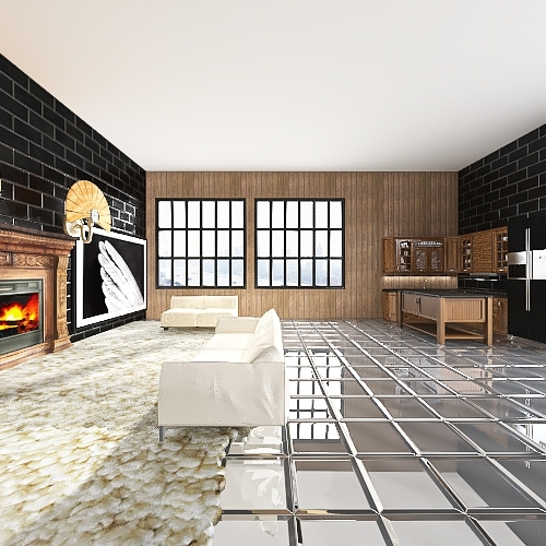 Home in the city Interior Design Render
