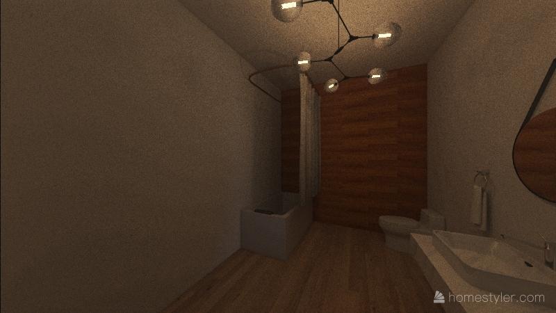 Japanese style home Interior Design Render