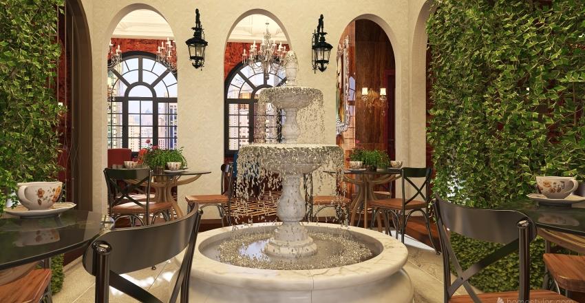 Traditional Fine Dining Restaurant Interior Design Render