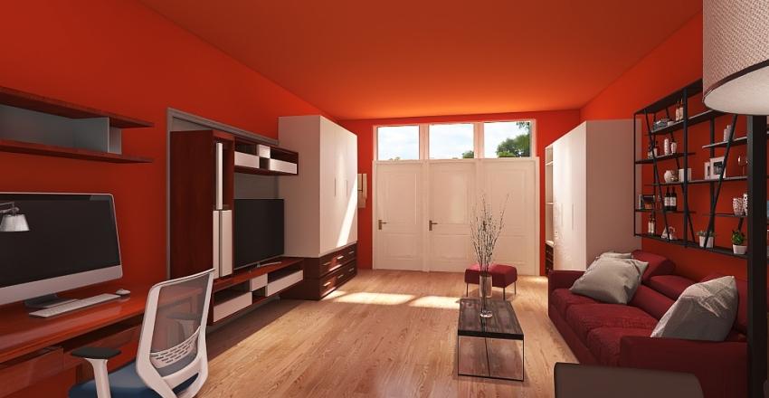 Monolocale 10 con apertura Interior Design Render