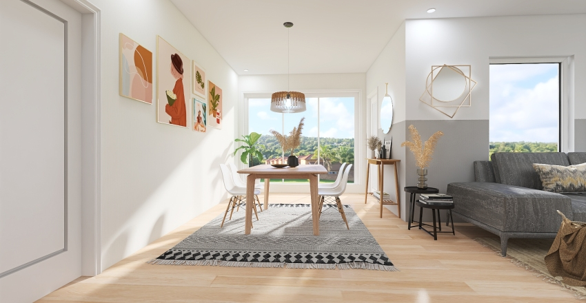 Scandinavian Home Interior Design Render