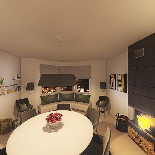 dinning room Interior Design Render