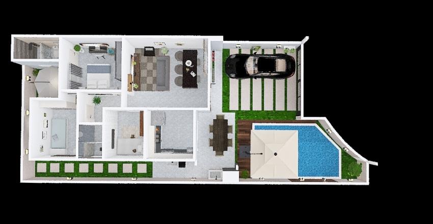 casa 5 decorado terreo Interior Design Render